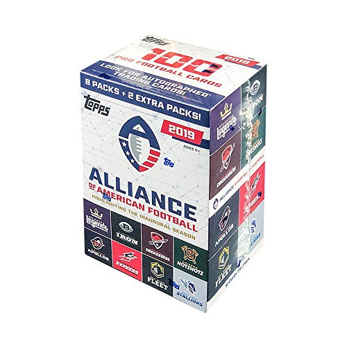 (2019 Topps Alliance of American Football 10ct Blaster Box)