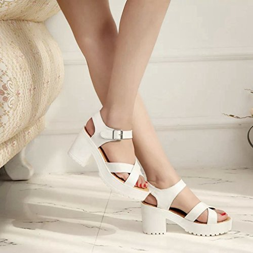 Walking Wedge JULY Peep Sandals Toe Slides High Platform Beige T Slip Dress Heel Strap Womens Comfy on Fashion Ankle Ladies 1Td4xqYYIw