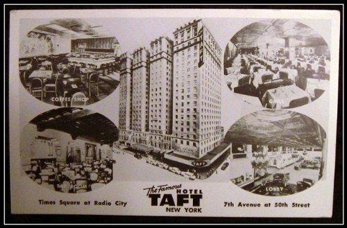 Taft Hotel New York c1950's Postcard RPPC 5 Views On times square, Radio City