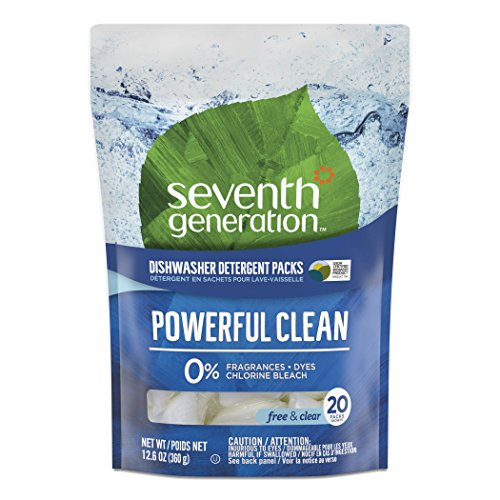 (Seventh Generation Natural Dishwasher Detergent Packs, Free and Clear, 20ct, Packaging May Vary)