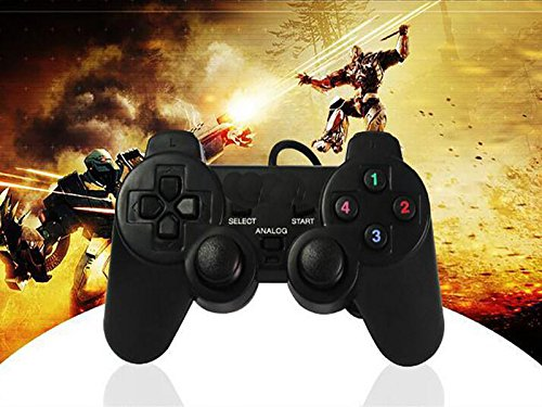 SQDeal 2 Pack USB GamePad Joypad Double Dual Shock Gaming Controller Joystick for PC Computer Laptop Windows [Video Game] by SQDeal (Image #5)