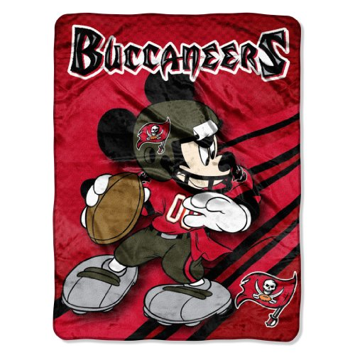 The Northwest Company Officially Licensed NFL Tampa Bay Buccaneers Mickey Mouse Ultra Plush Micro Super Soft Raschel Throw - Tampa Throw Buccaneers Plush Bay