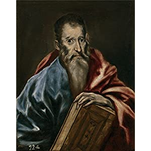 'El Greco (Workshop) Un Apostol 1608 14 ' Oil Painting, 20 X 25 Inch / 51 X 65 Cm ,printed On Perfect Effect Canvas ,this High Quality Art Decorative Prints On Canvas Is Perfectly Suitalbe For Bedroom Decor And Home Gallery Art And Gifts