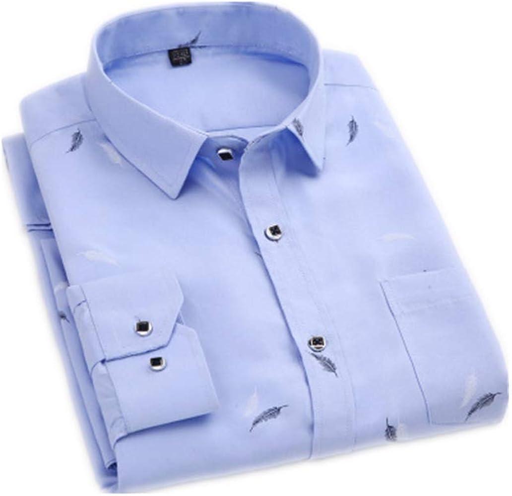 YUHUALI Camisa de Hombre Nueva Camisa Oficial de Esmoquin Casual Business Azul 01 39: Amazon.es: Ropa y accesorios