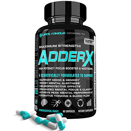 Focus Booster By Life S Armour Adder X   All Natural Nootropic Focus Booster Supplement To Help Support Mental Focus  Clarity  Alertness  Mood  Memory  Thinking    Cerebral Blood Flow