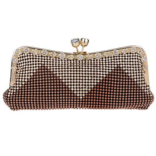Dress Brown Womens Bags Chain Evening Wedding Bags Clutch Wallet Purse Shoulder Ladies Party qR0aqxp1gw
