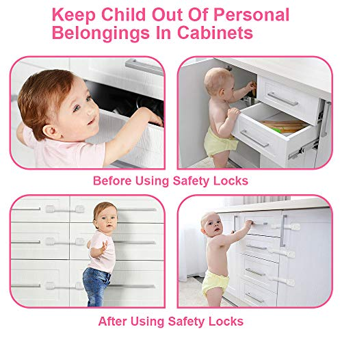 Baby Child Proof Safety Cupboard Cabinet Locks //Latch by Baybee Beu