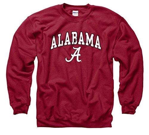 Campus Colors Alabama Crimson Tide Adult Arch & Logo Gameday Crewneck Sweatshirt - Crimson, Large