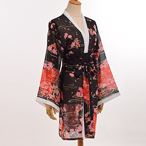 19b1102eb2f67 GRACEART Women's Sakura Kimono Yukata Bathrobe with Waistbelt:  Amazon.co.uk: Kitchen & Home