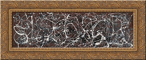 Number 13A (Arabesque) 24x13 Gold Ornate Wood Framed Canvas Art by Pollock, ()