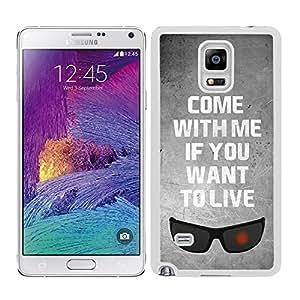 Funda carcasa TPU (Gel) para Samsung Galaxy Note 4 diseño ven conmigo si quieres vivir borde blanco