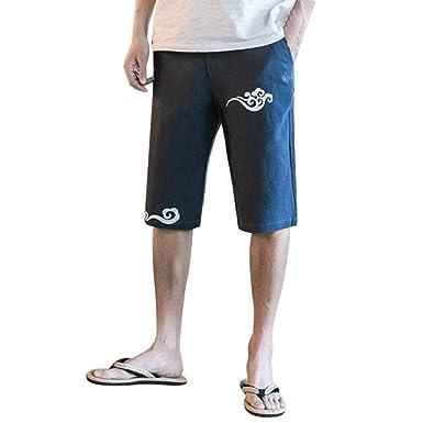 Pantalones Cortos De Lino Para Hombres Pantalones Cortos De Lino ...