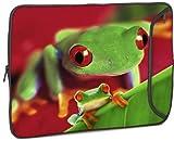 """Designer Sleeve 15"""" Laptop Case Frog with FREE matching Laptop Skin"""