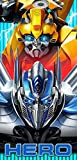 Transformers Moving Parts Beach Towel measures 28 x 58 inches