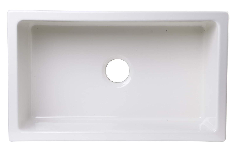 ALFI brand AB3018UM-B 30 x 18 Undermount Biscuit Fireclay Kitchen Sink
