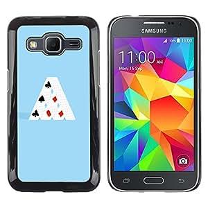 EJOY---Cubierta de la caja de protección la piel dura para el / Samsung Galaxy Core Prime / --MINIMALISTA TARJETA DE CASA
