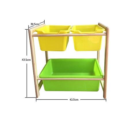 Organizador de juguetes Organizador de almacenamiento de juguetes for niños con contenedores de plástico, cajón de estante de caja de almacenamiento: perfecto for el almacenamiento doméstico Organizad: Hogar