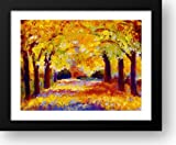 Central Park in Autumn 18x15 Framed Art Print by Wells-hess, Gail