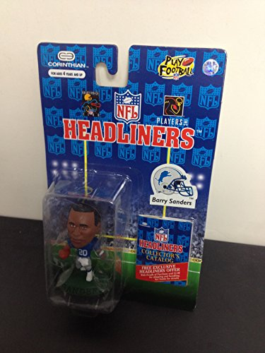 1996 Barry Sanders Detroit Lions NFL Football Figure by Headliners with collectors catalogue ()