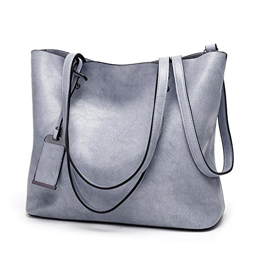 (Obosoyo Women Shoulder Tote Satchel Bag Lady Messenger Purse Top Handle Hobo Handbags Blue)