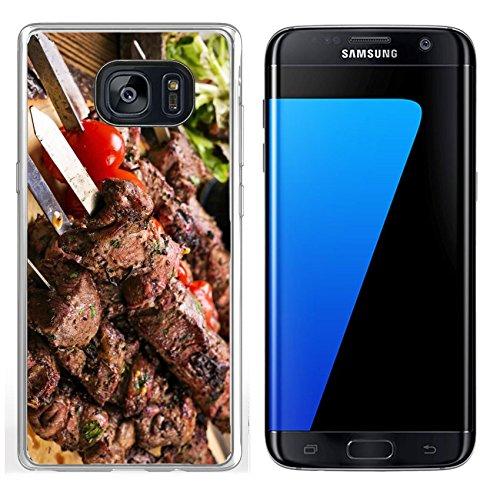 Luxlady Samsung Galaxy S7 Edge Clear case Soft TPU Rubber Silicone IMAGE ID: 25976275 lamb kebab