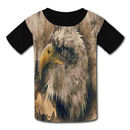 Retro Eagle Child Short Sleeve Fashion T-Shirt of Boys and Girls L