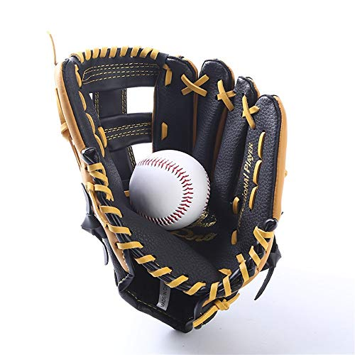 J.S.U Leather Baseball Softball Gloves Blowing Gloves Teen Children Casting Gloves Left and Right Hand Softball Gloves (Color : 12.5IN) 13' Softball Fielders Glove