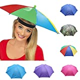 Nacome Outdoor Umbrella Hat,Novelty Foldable Sun Day Rainy Day Hands Free Hat Cap (Blue)