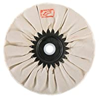 Woodstock D3194 Bias Soft Buffing Wheel, 6-Inch by 5/8-Inch Hole, White