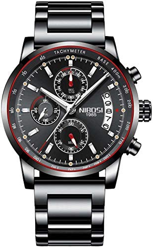 人のステンレス鋼のアナログの水晶腕時計のための人の防水スポーツの腕時計