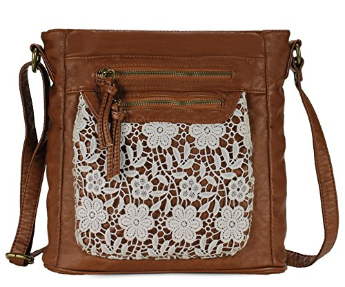 Scarleton Fashion Lace Crossbody Bag H174004 - Brown