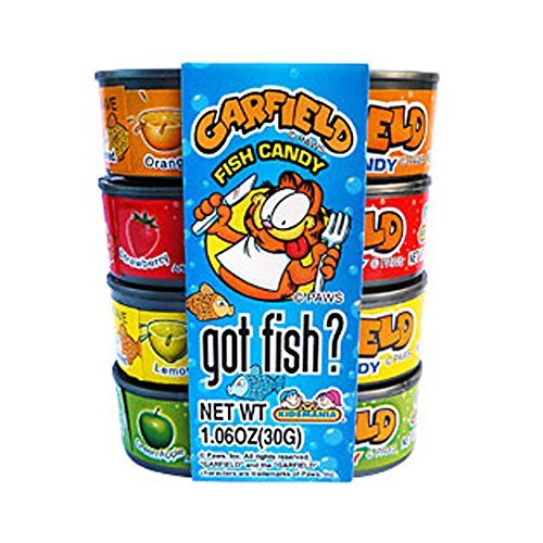 Garfield Got Fish Candy Tuna Cans 12 Count by The Nutty Fruit House - Exclusive Tuna Fish