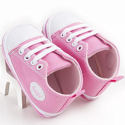 Cute Canvas 18m Baby Chaussures 0 Soft Antidérapantes Rose Sneaker Trainer qqHAgr
