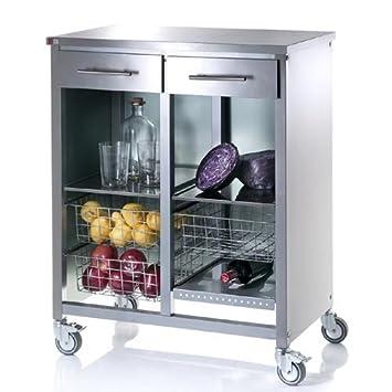 Küchenwagen edelstahl  Amazon.de: Steel Cook Double Küchenwagen, Edelstahl