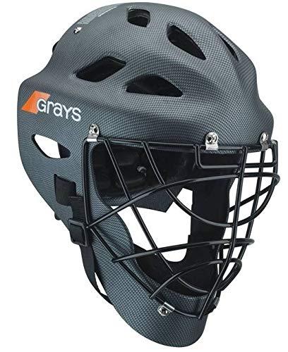 Field Hockey Goalie Gear - Grays G600 International Field Hockey Goalie Helmet - Black-M