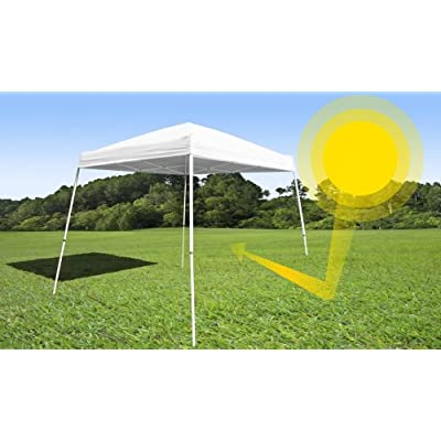 ezShade 10' Angled Leg Canopy Sidewall - Blocks 99% UVA/UVB - Keeps you COOLER, DOUBLES your SHADE and INSTANTLY ATTACHES to ANY 10'x10' Angled Leg Canopy - now with WIND VENTS. CANOPY NOT INCLUDED: Sports & Outdoors