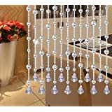 "Ujoy 78"" Faux Crystal Garland Wedding Bead Strands For Home Party Wedding Christmas Decoration (Clear)"