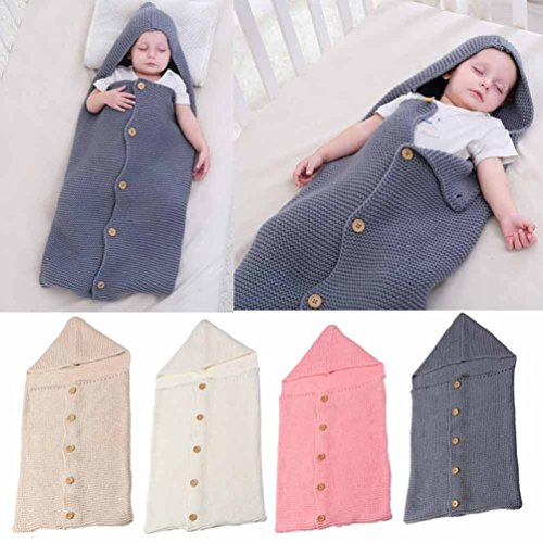 "FEITONG Baby Blanket Swaddle, Sleeping Bag Kids Toddler Sleep Sack Stroller Wrap (7137cm/28.014.6"", Gray)"