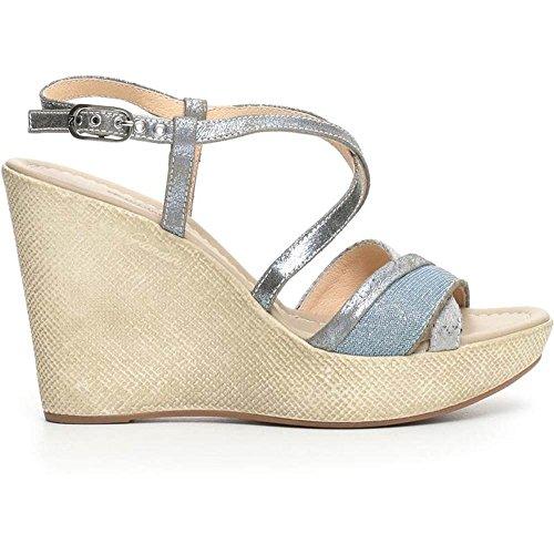 Sandalo Donna Alto in Pelle Jeans P717622D 214 - Nero Giardini