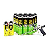 Great Stuff Dow Pro 14 Gun & Pestblock 20 oz(12 cans) & Gun Cleaner (2 cans)