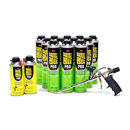 Dow Great Stuff Pro 14 Gun & Pestblock 20 oz & Gun Cleaner
