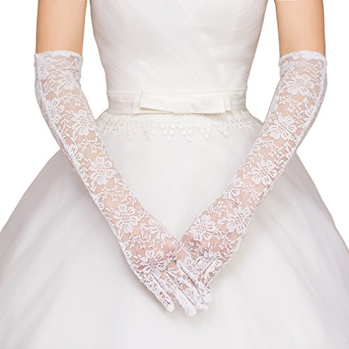 White Wedding Gloves: Amazon.com