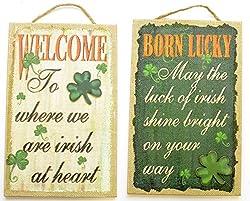 Born Lucky St. Patricks Day Wall Decor, Assorted, 1 Piece