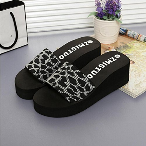 Casual Slippers for Platform Beach Gray Summer Xjp Women Wedge Slide Shoes 0xqw58p