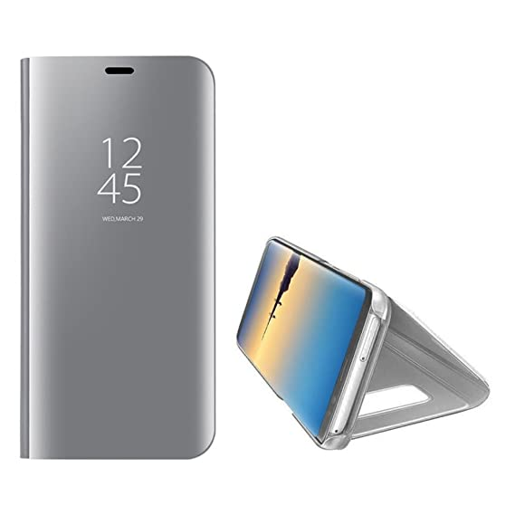promo code 27b9a af491 Galaxy Note 8 Mirror Case,Shinetop Slim Fit Electroplate Plating Smart  Clear View Standing Case PC Flip Cover Full Body Shock Absorbent Protective  ...