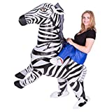 Wecloth Inflatable Zebra Piggyback Blow Up Animal Safari Adult Fancy Dress Costume