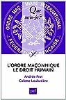 L'ordre maçonnique : Le Droit Humain par Prat