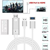 USB to HDMI Cable Adapter for iPhone XS 5.8inch / XS MAX 6.5 inch, Elevin(TM) USB to HDMI 4K HD...