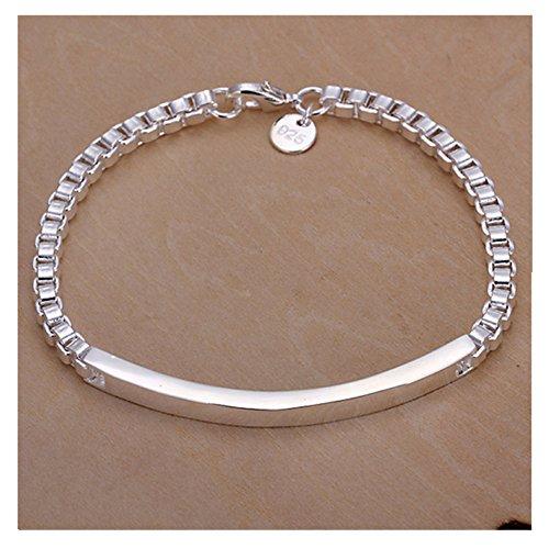 NYKKOLA New Fashion Beautiful 925 Silver Classic Hand - Men 925 Silver Bracelet