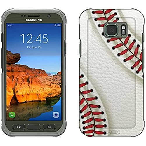 Samsung Galaxy S7 Active Case, Snap On Cover by Trek Baseball Laces Slim Case Sales